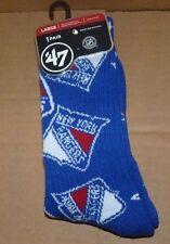 NEW NHL NY New York Rangers 1 Pair Gameday Socks Men Women 47 Brand L Large NWT