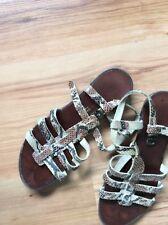 Strappy Sandels. Snake Skin .Leather Sandels. Size 4.