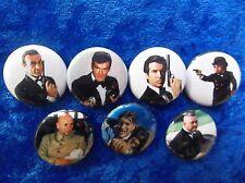 "1"" pinback button set inspired  by ""007 james bond""   jaws odd job"