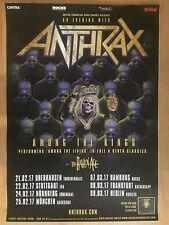 ANTHRAX  2017  TOUR   +  orig.Concert Poster -- Konzert Plakat  A1 NEU