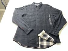 Harley Davidson Men's Long Sleeve Button Down Shirt Flannel Lined Size XL
