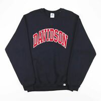 RUSSELL ATHLETIC Davidson Black 00s Crew Neck Sweatshirt Mens M