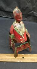 ANTIQUE 1920S PIANO PLAYER OF HAM AND SAM MINSTREL TEAM TIN WIND UP TOY STRAUSS