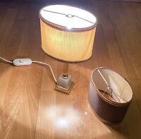 Vintage Tischlampe im Empire-Stil mit 2 Schirmen - Gold/Beige - Barock