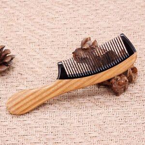 Handmade Green Sandalwood Salon tool Wooden Hair comb Horn Comb Fine Tooth Comb