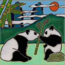 CeramicTile Panda Bear wall decor hot plate installation backsplash mural mosaic