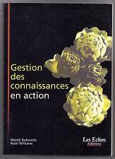MANAGEMENT BUKOWITZ & WILLIAMS GESTION DES CONNAISSANCES EN ACTION 2000