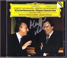 Maurizio POLLINI Signiert SCHUMANN SCHOENBERG Piano Concerto CD Claudio ABBADO