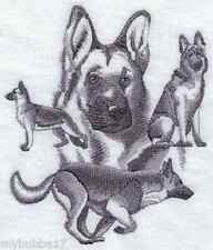 GERMAN SHEPHERD COLLAGE SET OF 2 BATH HAND TOWELS EMBROIDERED by laura
