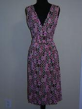 Missoni M Abito Dress Circle Logo Print Pinks Browns Black NWT Sz: 42 = 6 8
