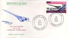 3953+ CONCORDE  FDC 1er JOUR MALI 1986 + CACHET AU DOS