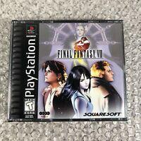 Final Fantasy VIII (PlayStation 1, 1999) FF8 PS1 Black Label Complete CIB