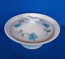 Vintage IMPROMPTU IROQUOIS Ben Seidel Blue Floral Cosmos Sugar Bowl w/ Lid