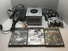 Nintendo Gamecube Silver Console Bundle Games Lot Tested
