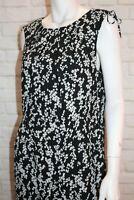 TOKITO Brand Women's Black White Printed Sleeveless Dress Size 14 #AN02