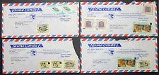 El Salvador 4x Luftpost Brief mit Briefmarken und Stempel (H-8807+
