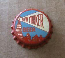 UNUSED NEW YORKER BEER CORK BOTTLE CAP BROOKLYN NEW YORK 1946-1948 ERA NY