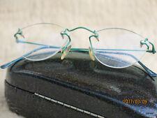 Charmant Titanium Rimless Eyeglass Frame New Turquoise Unisex MinimalLightweight