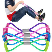 Home Sport Fitness Yoga 8-Shape Pull Rope Tube Equipment Tool Gym Exercise Rally