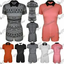 Aztec Short Sleeve Playsuits for Women
