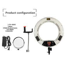 96w White Dual Color FD-480II LED Studio Ring Light for Selfies/Makeup/Lighting