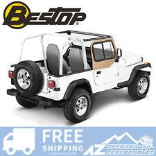 Bestop Upper Door Sliders 97-06 Jeep Wrangler TJ & Unlimited LJ Dark Tan
