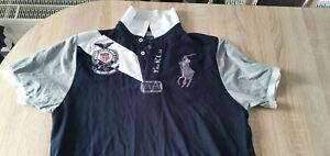"""Poloshirt """" Ralph Lauren """" Herren*Gr.XXXL/3XL*Blau/Grau*Freizeit Sport Sommer"""
