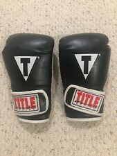 Title Boxing Classic Training Gloves Hook and Loop - Black/White *Baby*