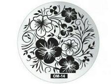 Round Nail Stamping Plates Manicure Pedicure Nail Art o14