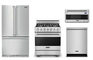 Viking Appliance Value Deal - Refrigerator, Range, OTR Microwave, & Dishwasher