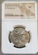 Seleucid Kingdom Antiochus VII Tetradrachm NGC VF Ancient Silver Coin