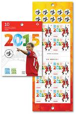 2015 FIFA Women's World Cup Book of 10  Sc 2837a BK621