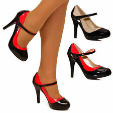 Stiletto Court Synthetic Leather Heels for Women