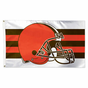 CLEVELAND BROWNS DELUXE 3'X5' HOUSE FLAG WALL BANNER NFL LICENSED USA SELLER