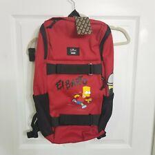 New Vans x The Simpsons El Barto Obstacle Skatepack Backpack Bag Red 23L