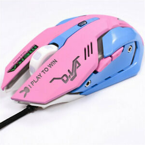 Game Overwatch D.va Pink Reaper Mercy Genji Electronic Sports USB Wired Mouse