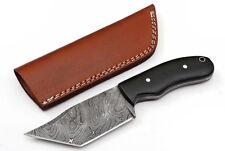 Custom Twist Damascus Steel FULL TANG Tanto Hunting Knife D24
