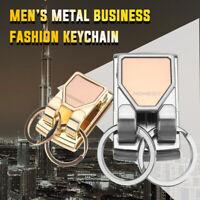 Spring Buckle Clip On Belt Double Loops Silver Keychain Key Holder Key Rings #