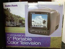 "Vintage Radio Shack Portavision 5"" Portable Color Television. New in box."