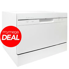 MyAppliances 50557953 Freestanding Table Top 6 Place Setting Dishwasher in White