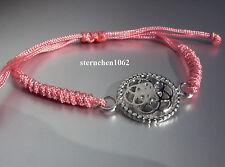 Original Traumfänger - Armband * Textil rosa * Blume * Stahl
