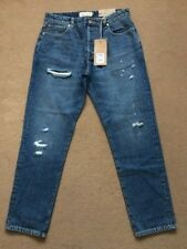 "NEXT Men's Slim Tapered Blue Ripped & Repaired Denim Jeans, 32R, W32"" L31"",£40."