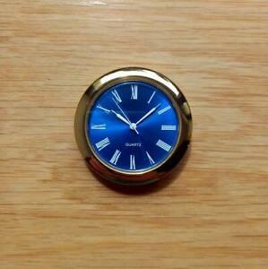 Premium 50mm Gold Bezel QUARTZ WATCH insert movement BLUE SUNBURST DIAL ROMAN