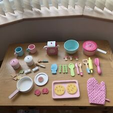 Wooden Tea Set & Cookies Cooking Children Kids Play Food Early Learning Centre