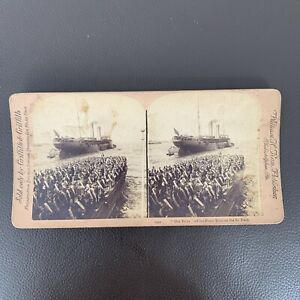 Antique Vintage 1492 STEREOVIEW Our Boys Off Of Porto Rico On St. Paul GRIFFITH
