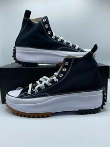 Converse Run Star Hike Hi Black White Gum Men's Size 10.5 166800C