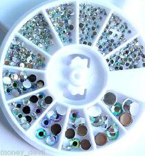 Nail Art Strasssteine Diamant Effekt Nagel Design 300 Stück 4 Größen 1 bis 4 mm
