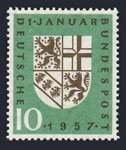 Germany 754 block/4,MNH.Michel 249. Return of Saar,1957.Coat of Arms.