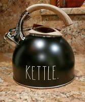 "Rae Dunn Whistle Tea Kettle ""KETTLE "" Black"