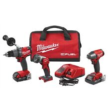 "Milwaukee 2891-23 M18 Fuel 18 Volt 1/2"" Hammer Drill 3/8"" Impact Gun Combo Kit"
